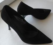 черные замшевые туфли 36 р-р
