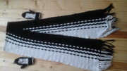 Дешево комплект двойка-девочка шарф , варежки