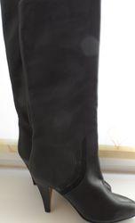 сапоги женские кожаные демизезонные  р.38