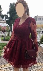 Шикарное бордовое платье